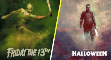 Mira los increíbles pósters de películas clásicas de horror hechos con acuarelas