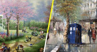 Este artista le da nueva vida a pinturas de segunda mano...con un toque de cultura pop