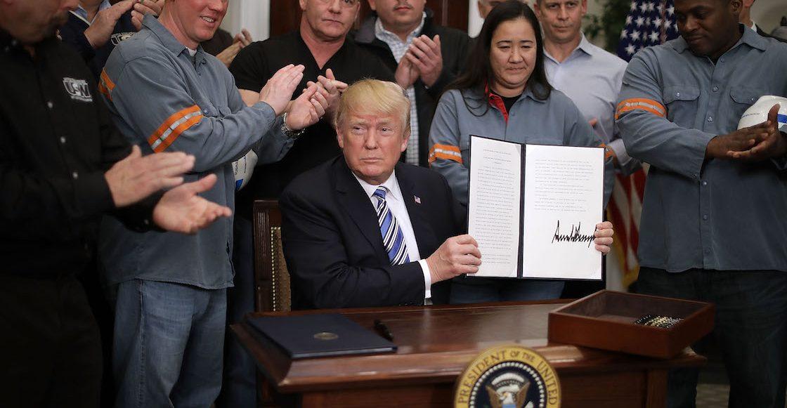 Estados Unidos excluye a México y Canadá de arancel