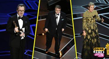 I'm a winner, baby!  Estos son los ganadores de los premios Oscar 2018