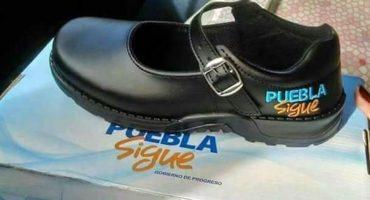 Entrega de zapatos con logo del gobierno de Puebla, no es ilegal: TEEP