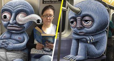 Este artista nos muestra los monstruos que viven en el metro de Nueva York