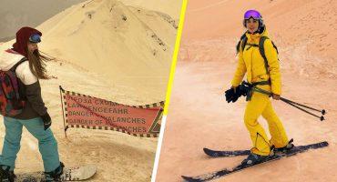 ¿Nieve naranja? Por arena del Sahara la nieve en Rusia cambia de color