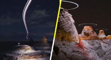 Mira estos increíbles paisajes captados e iluminados con Drones