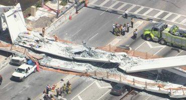 Colapsa puente peatonal en Florida, hay varios heridos