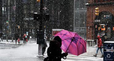 ¿Primavera? No para Nueva York, amanecen con tormenta de nieve 🌨❄️
