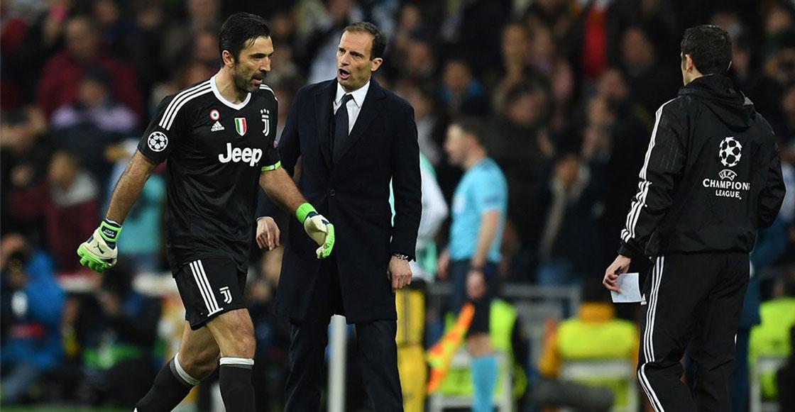 Buffon Juventus, Champions expulsión