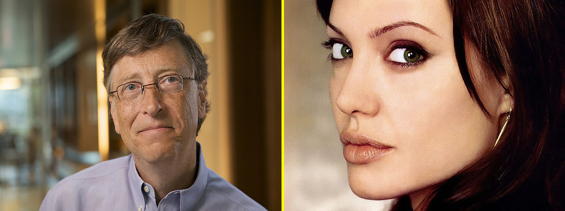 Angelina Jolie y Bill Gates