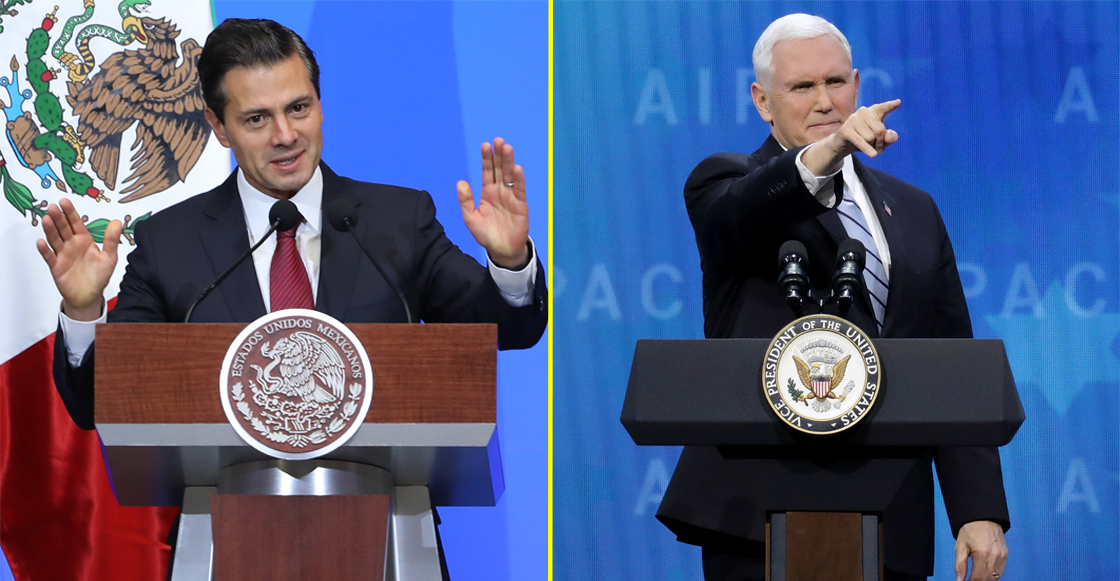EPN y Mike Pence