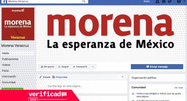 #Verificado2018 Falsa página de Morena Veracruz difunde contenido en FB