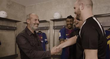 Fans del Barcelona fueron hipnotizados para conocer a jugadores