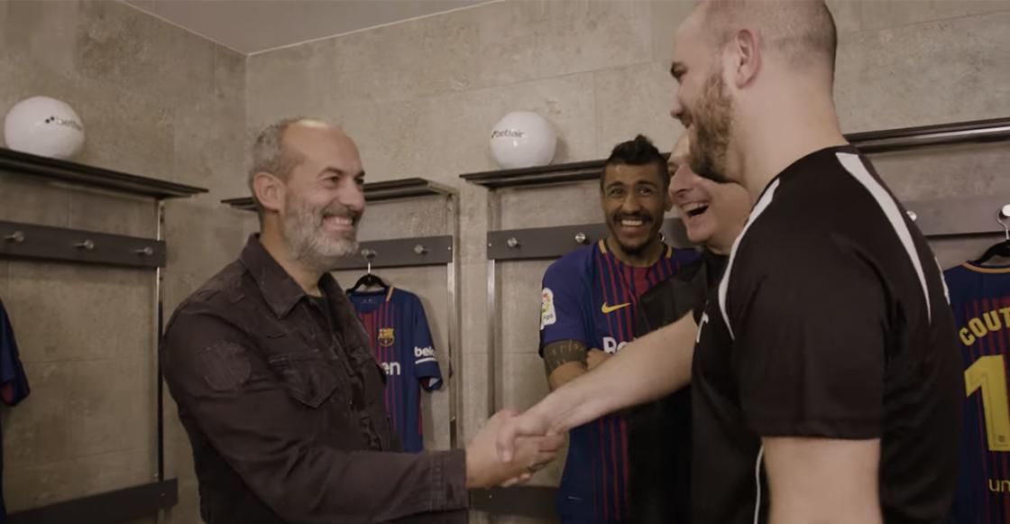 Fans Barcelona hipnotizados