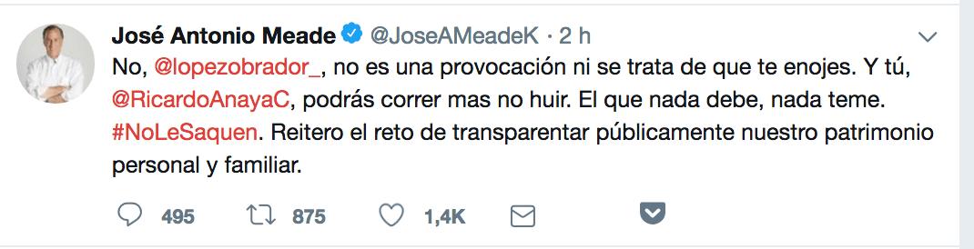 José Antonio Meade en Twitter