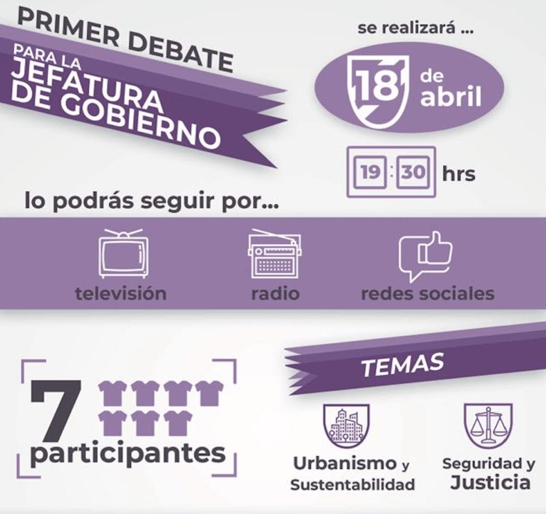 Primer debate candidatos a jefatura de gobierno CDMX