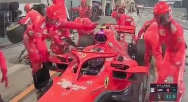 Raikkonen atropelló a uno de sus mecánicos y abandonó el Gran Premio de Bahréin