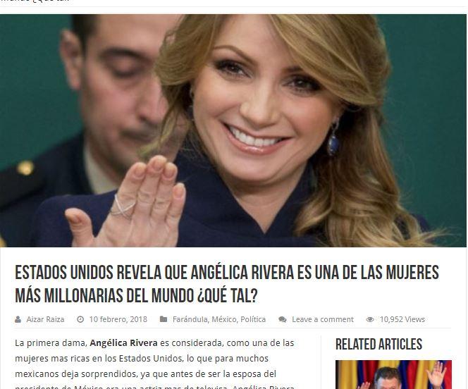 Angélica Rivera nota fake