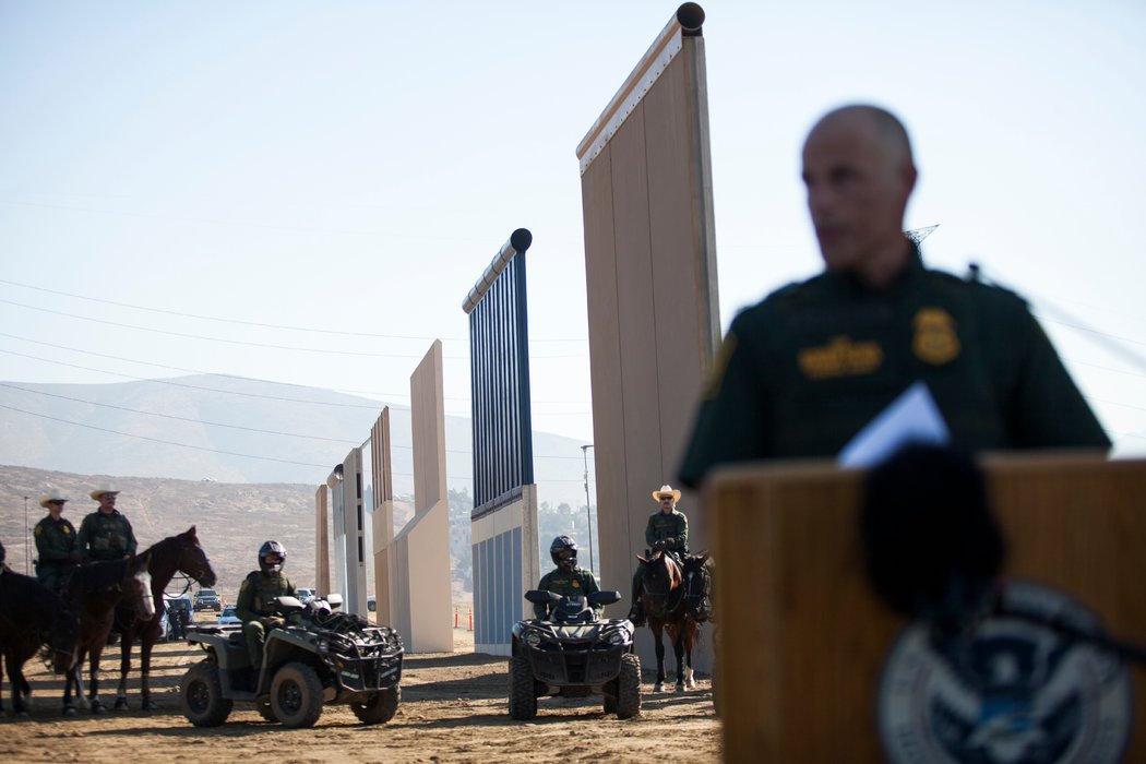 Seguridad en el muro en la frontera México Estados Unidos