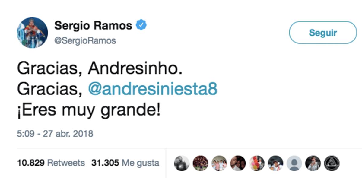 Sergio Ramos Andrés Iniesta
