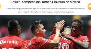 #EpicFail Un diario coronó al Toluca Campeón sin haber disputado la Liguilla