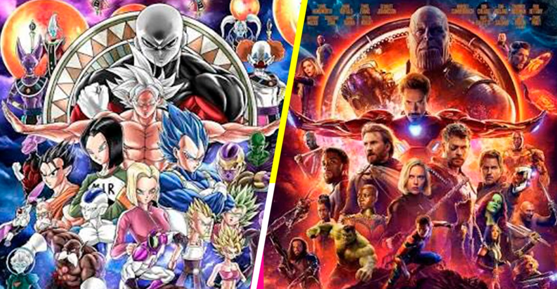 Entendí esa referencia: Un fan hizo un poster de Dragon Ball Super al estilo de Avengers: Infinity War