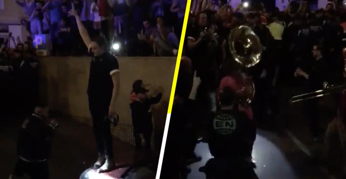 Envidia 1000%: Arcade Fire terminó su concierto en las calles de Madrid