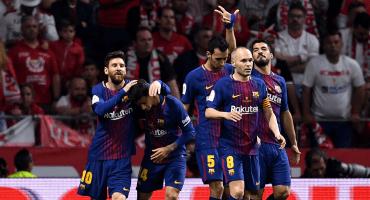 ¡Hat-Trick de Messi y pum! Barcelona campeón de España