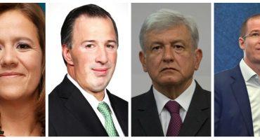 A una semana de campañas: AMLO 42%, Anaya 31.1%, Meade 21.9% y Zavala 5%, según El Universal