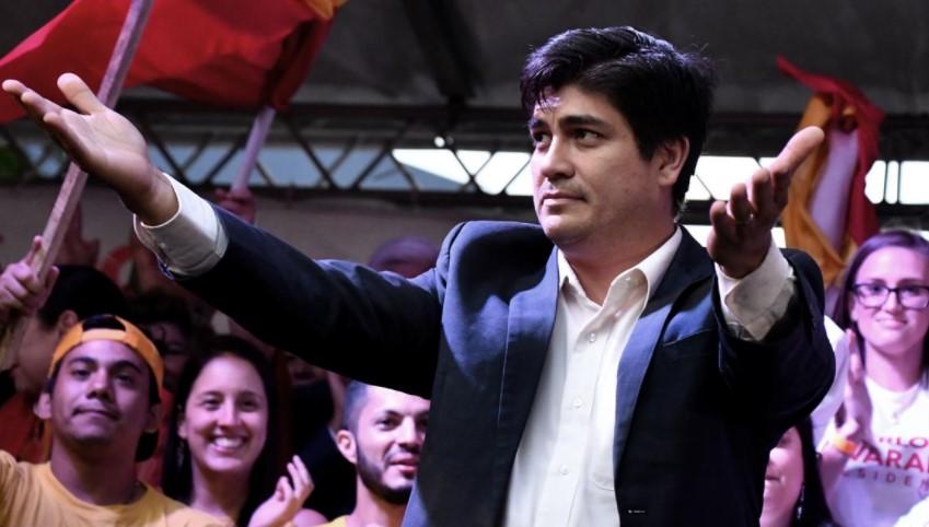 El presidente electo de Costa Rica, Carlos Alvarado