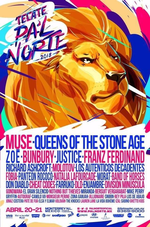 Cartel del Festival Pal' Norte 2018