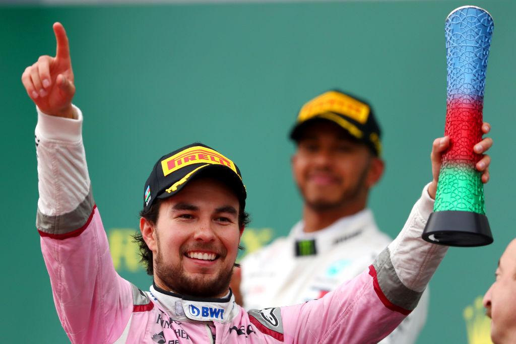 ¡ENORME! Checo Pérez regresó al podio en el Gran Premio de Azerbaiyán
