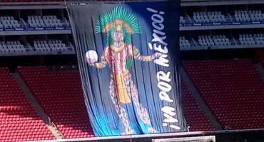 ¿Y la crisis apá? Chivas presume tifo prehispánico para la Final de Concachampions