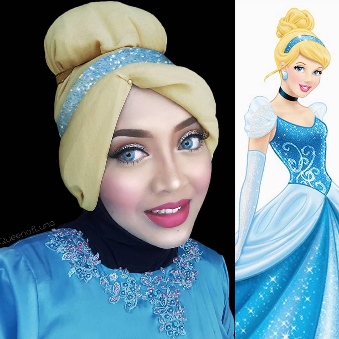 Esta cosplayer de Malasia usa hijabs para recrear sus disfraces ¡Y le quedan increíbles! 😮