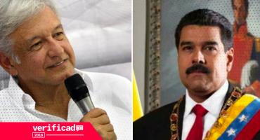 #Verificado2018 ¿AMLO y Maduro unidos?: Falso