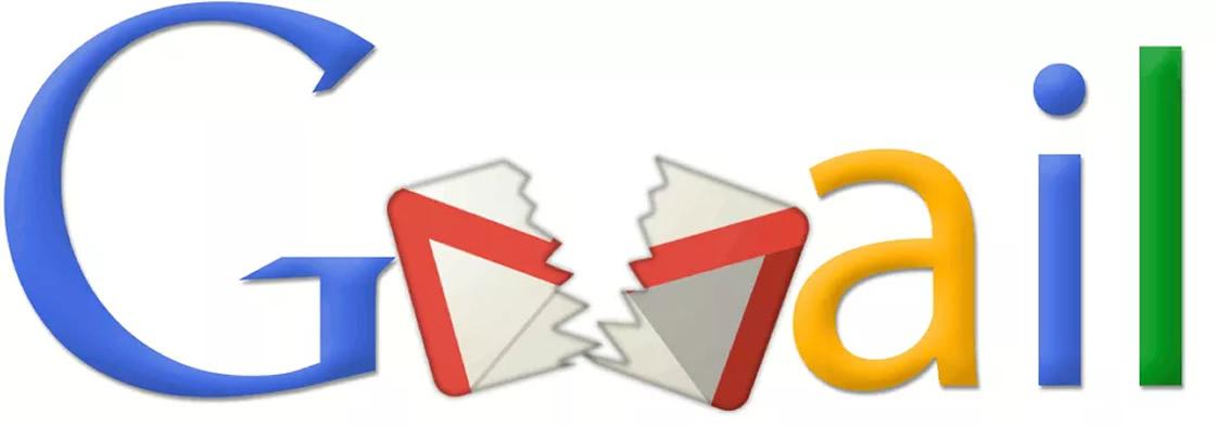 logo gmail roto