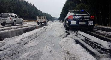 Santa granizada que cayó en la carretera México-Cuernavaca 😱❄️