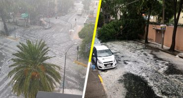 Ay mamá, me estoy mojando... Cae fuerte granizada en la CDMX y el Estado de México