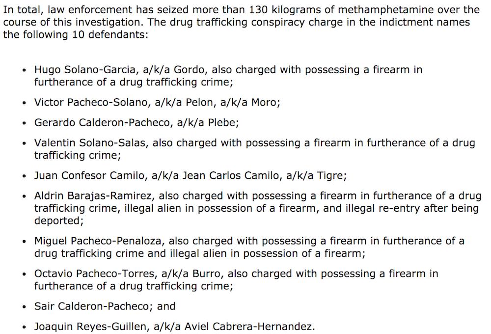 informe DEA drogas Atlanta muñecos de Disney