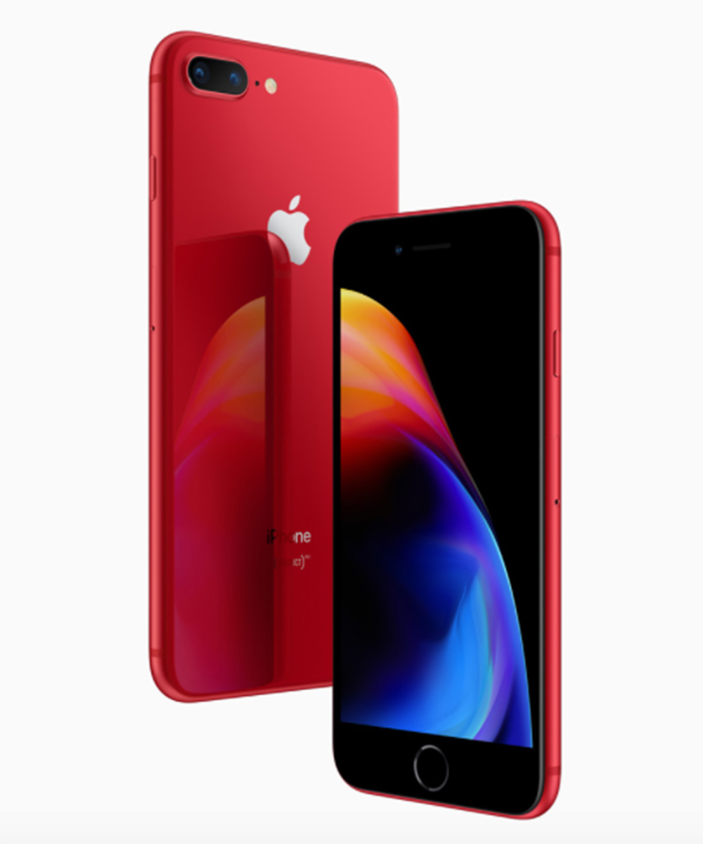 Apple anuncia el iPhone 8 y 8 Plus en color rojo para su edición especial