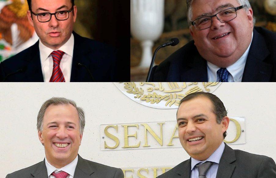 Los exsecretarios de Hacienda: Luis Videgaray, Agustín Carstens, Ernesto Cordero y José Antonio Meade