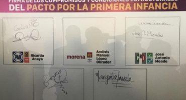 Elecciones 2018, día 19: candidatos pactan por la Primera Infancia y critican que AMLO se subió a una avioneta