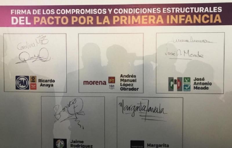 Firmas de candidatos / PActo Por la Primera Infancia
