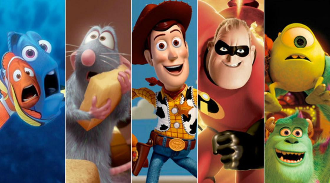 personajes disney pixar