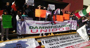 Damnificados del 19-S se reúnen con el secretario de Finanzas tras protesta