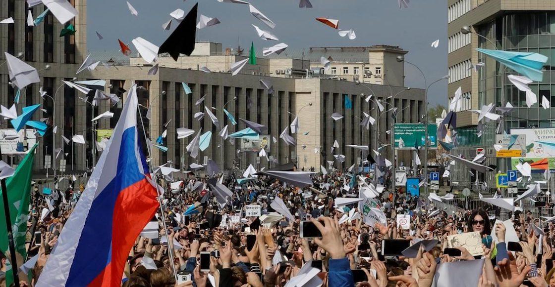 Protesta-Moscú-Telegram-aviones