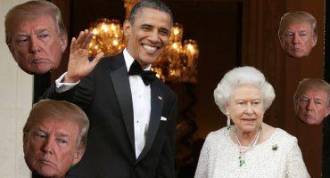Como cuando hasta la reina Isabel hace una broma de Trump… y Obama