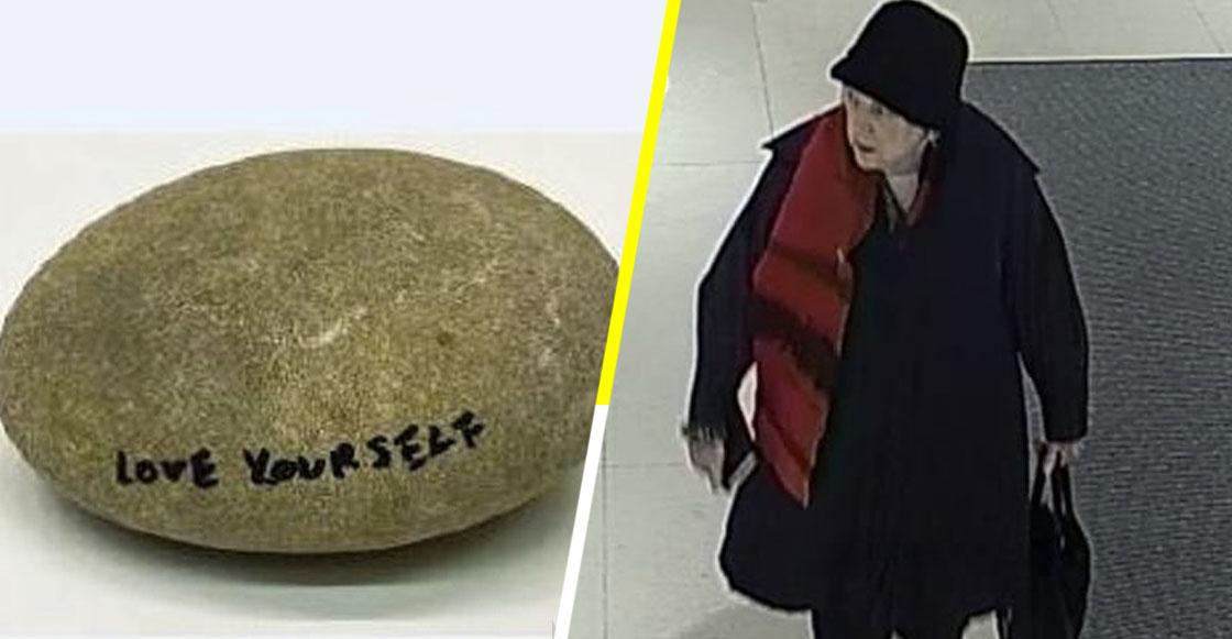 Una mujer robó una roca firmada por Yoko Ono con un valor de... ¡$17,500 dólares!
