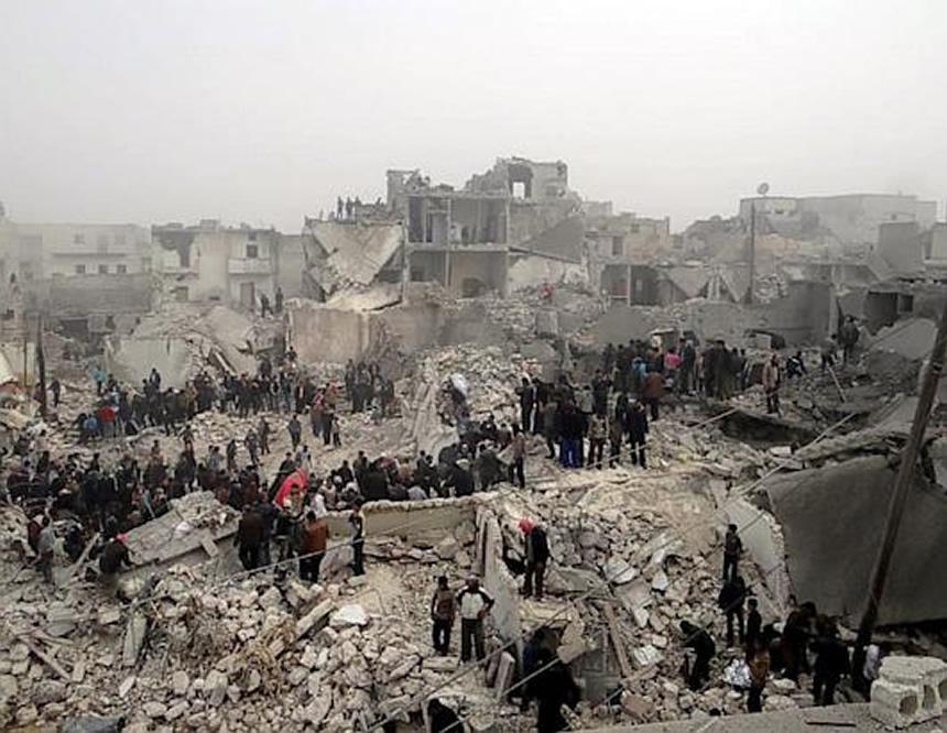 ciudad siria destruida por guerra