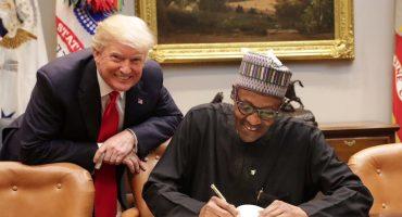 Después de decir que 'vivían en chozas', Donald Trump recibe al presidente de Nigeria