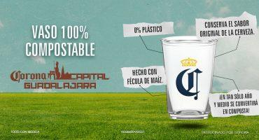 ¡Corona Capital Guadalajara se pone pro-ambiente y lanza vasos compostables!
