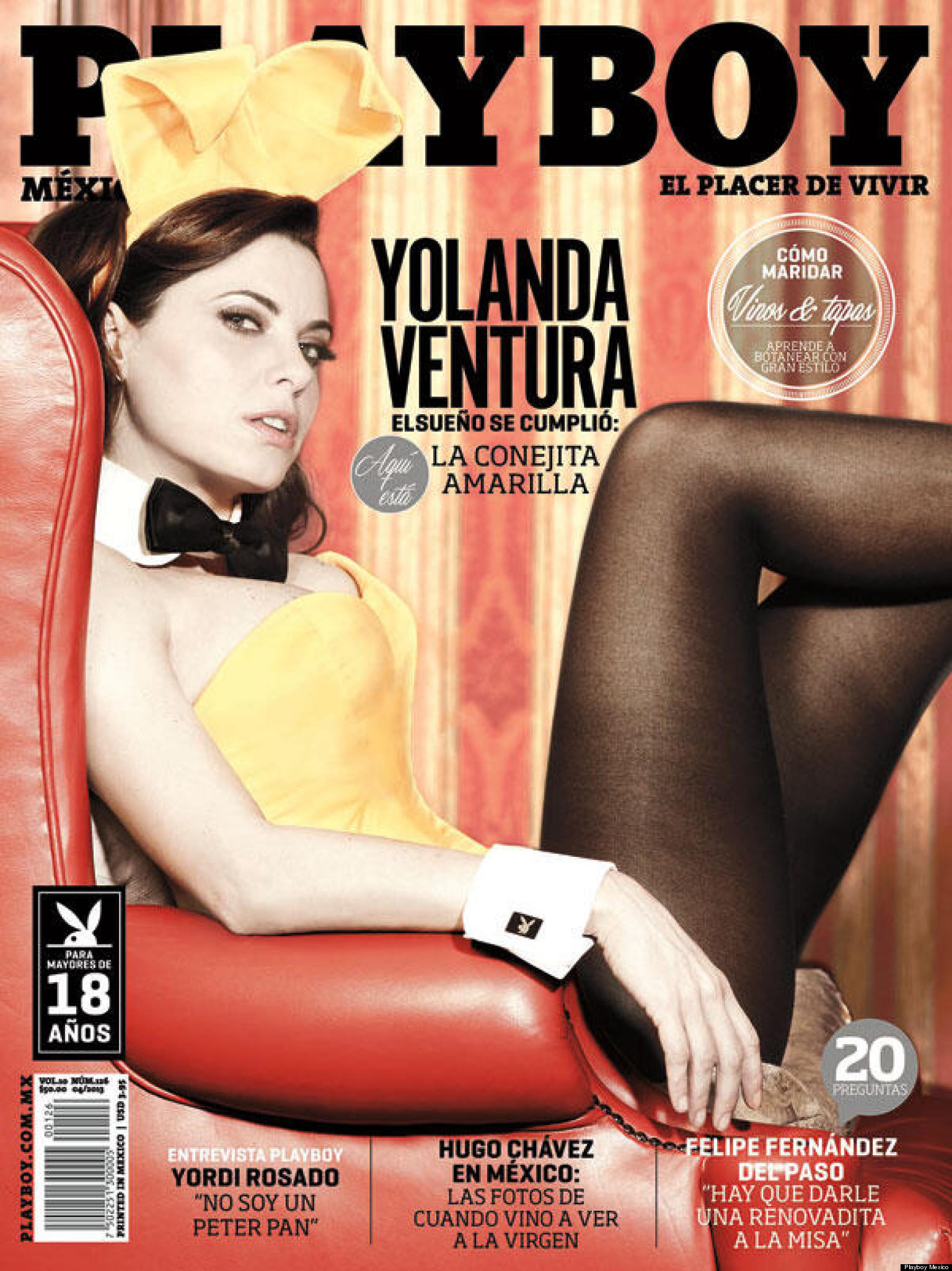 Portada de Playboy con Yolanda Ventura